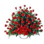 50 Roses Facing arrangement