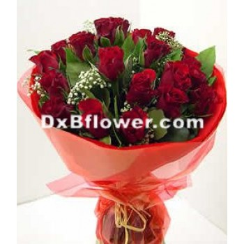 Hand tied roses Bouquets-Round shape - by Dxb Flower