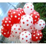 Red-White Mix doted Balloons Bouquets