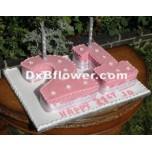 Numerical Double Digit shape cake-C95