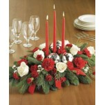 Christmas Centre Piece with 3 candles