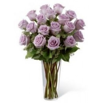Lavender roses in Vase - by Dxb Flower