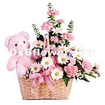 Pleasant Pink Surprise - by Dxb Flower