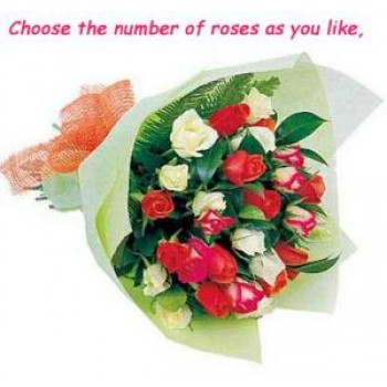 Choose your Roses-Bouquets - by Dxb Flower