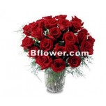 Interflora Dubai Vase of Red Roses
