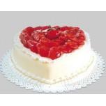 Heart Shaped Strabbery Fruit Cake