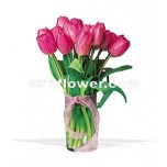 Pink Tulip Bouquet in Vase