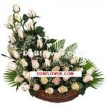 Oval Shape Roses Arrangement